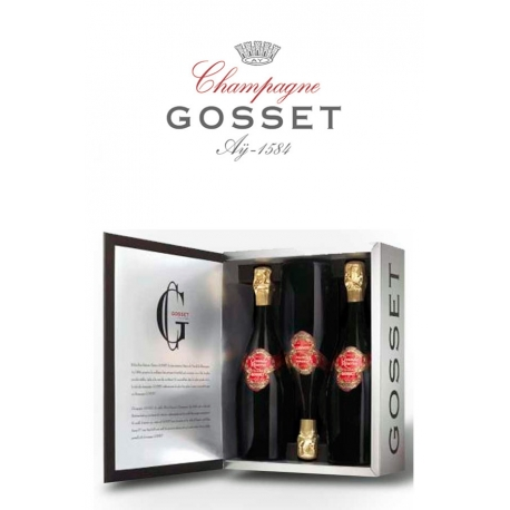 Gosset Grand Rose Caja 3 Botellas