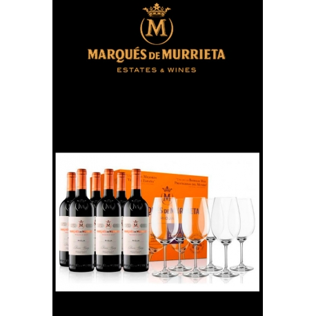 Marques Murrieta Reserva 6 Botellas y 6 Copas